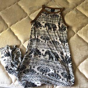 Full length cotton maxi dress